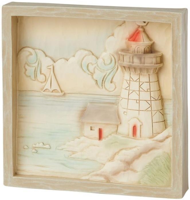 Jim Shore 6009344 Lighthouse Plaque