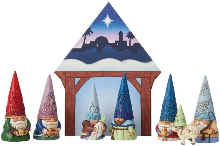 Jim Shore 6009346 Gnome Gnativity 8 Piece Set