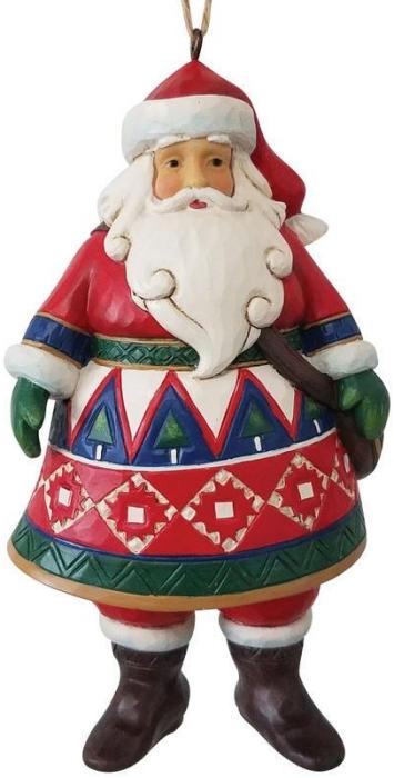 Jim Shore 6009458 Lapland Santa Ornament