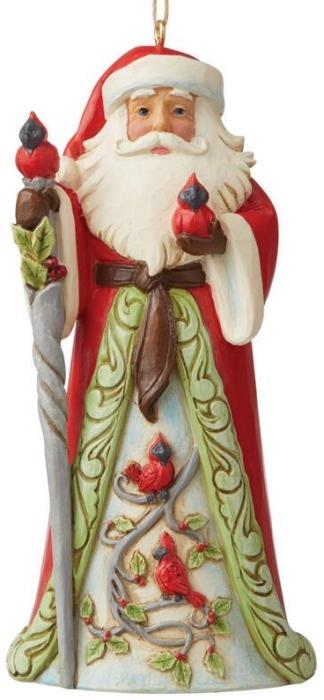 Jim Shore 6009459 Santa with Cardinal Ornament