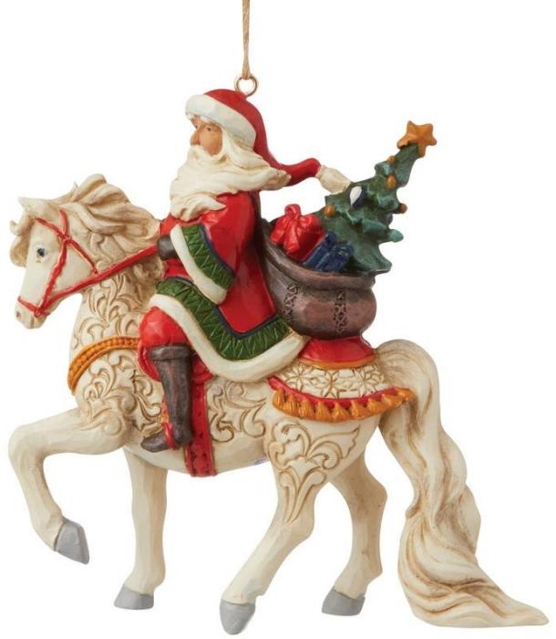 Jim Shore 6009460N Santa Ornament