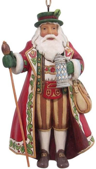Jim Shore 6009461 German Santa Ornament