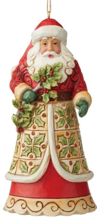 Jim Shore 6009462N Santa with Holly Ornament