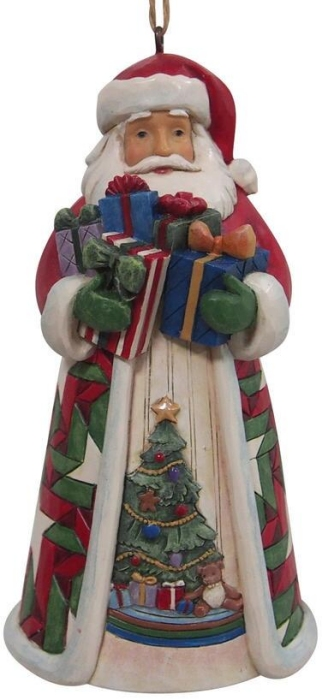 Jim Shore 6009463 Santa Arms Full Ornament