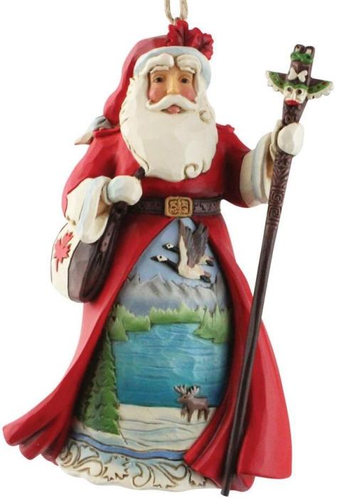 Jim Shore 6009467N Canadian Santa Ornament