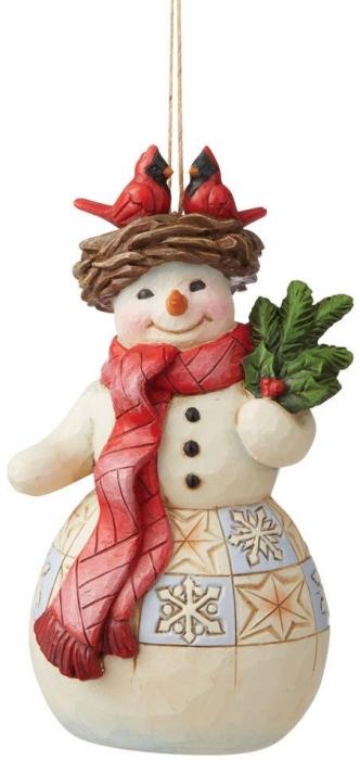 Jim Shore 6009469N Snowman with Cardinal Ornament