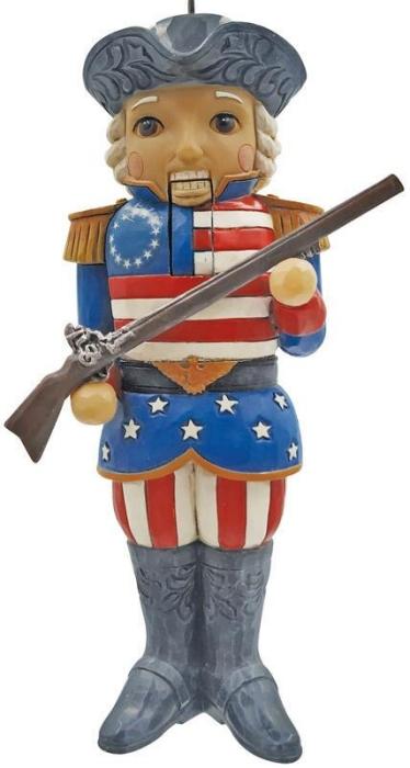 Jim Shore 6009472N American Nutcracker Ornament