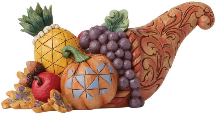 Jim Shore 6009473 Harvest Cornucopia Figurine