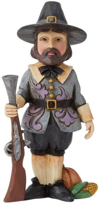 Jim Shore 6009474 Harvest Pilgrim Mini Figurine