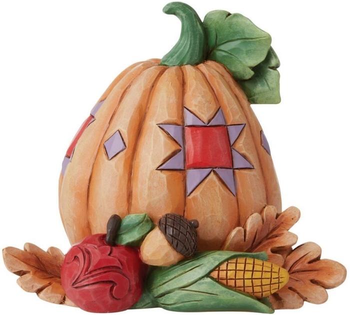 Jim Shore 6009475 Pumpkin with Bounty Figurine