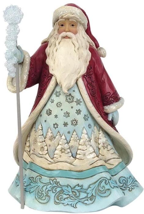 Jim Shore 6009485 Wonderland Santa with Snowflake Figurine