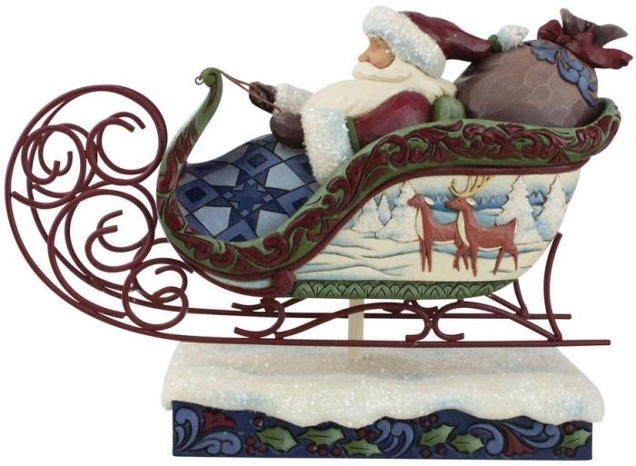 Jim Shore 6009493N Victorian Santa In Sleigh Figurine