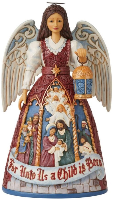 Jim Shore 6009495 Victorian Nativity Angel Figurine
