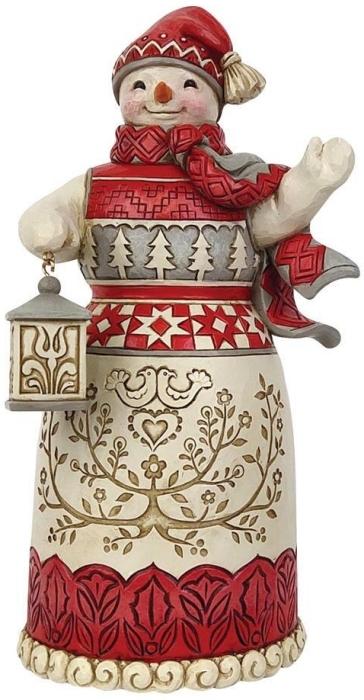 Jim Shore 6009501 Nordic Noel Snowman Figurine