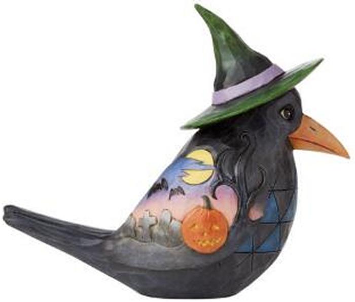 Jim Shore 6009510 Halloween Crow Pint Size Figurine