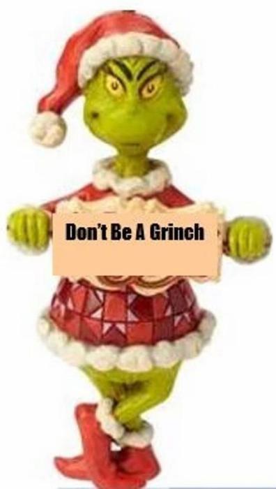 Jim Shore Grinch 6009534 Don't Be a Grinch PVC Ornament