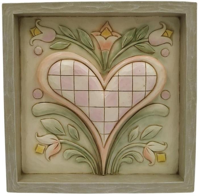 Jim Shore 6009558 Heart Plaque