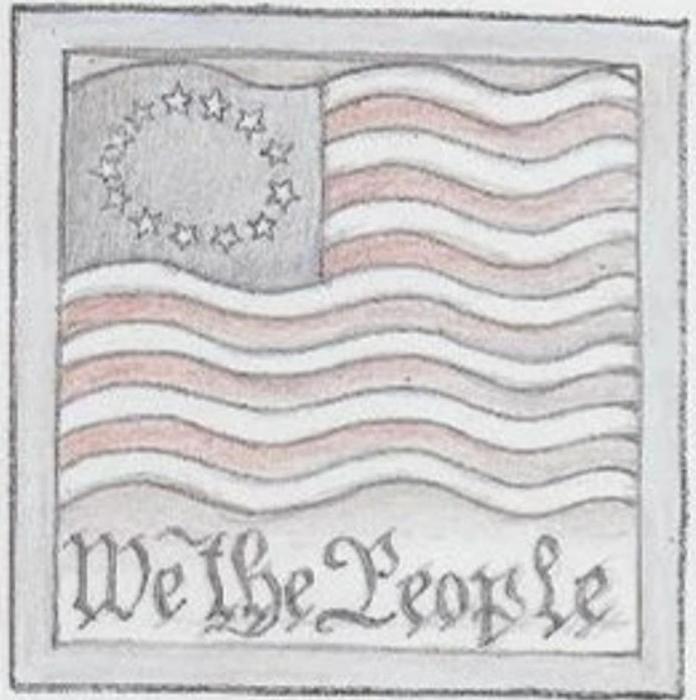 Jim Shore 6009560 Americana Flag Plaque