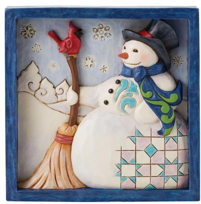 Jim Shore 6009565N Snowman Plaque