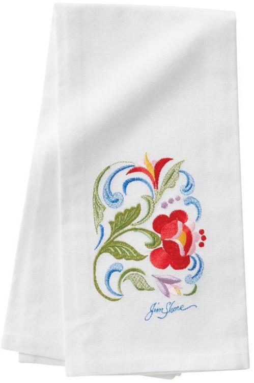 Jim Shore 6009569 Roses Towel