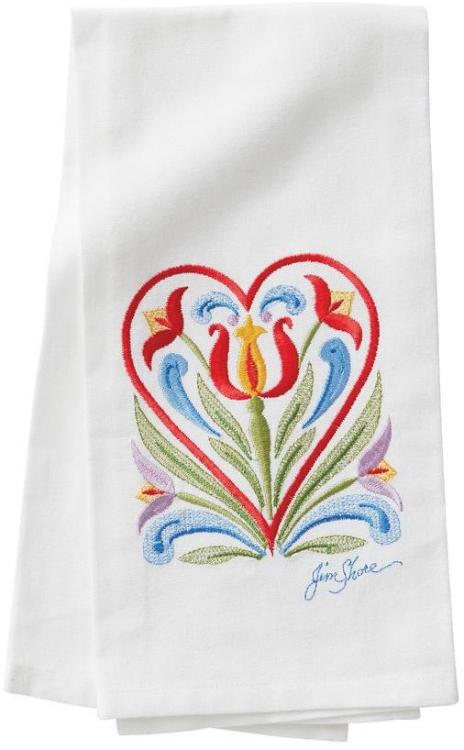 Jim Shore 6009570 Heart Towel