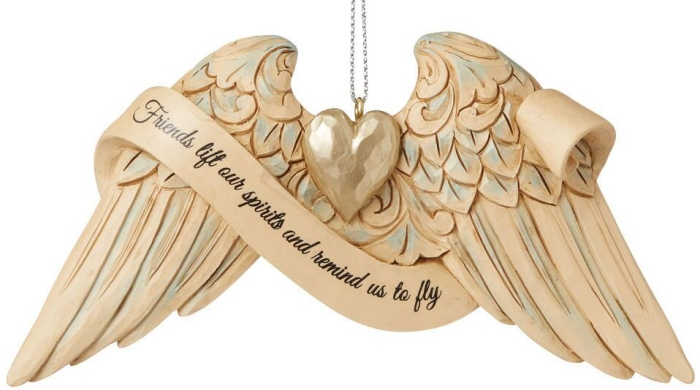Jim Shore 6009573 Angel Wings Friends Ornament