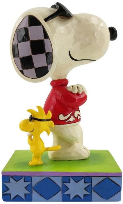 Jim Shore Peanuts 6010115 Joe Cool & Woodstock Figurine