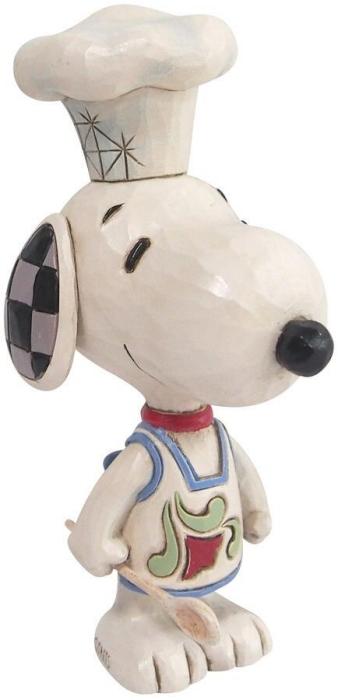 Jim Shore Peanuts 6010120 Snoopy Chef Mini Figurine