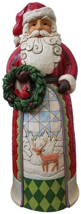 Jim Shore ND4059915 Santa Holding Wreath Statue