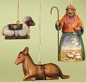 Jim Shore 118108 Shepherd and 2 Animals Ornament