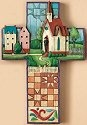 Jim Shore 4007046 Church Cross Wall Decor