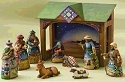 Jim Shore 4008789 Mini Nativity Set Figurine