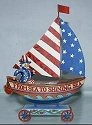 Jim Shore 4009773 Keep Freedom Afloat Figurine
