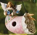 Jim Shore 4010000 Angel Birdhouse Birdhouse