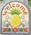 Jim Shore 4011473 Pineapple Garden Plaque