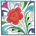 Jim Shore 4012498 Rose Square Suncatcher