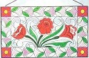 Jim Shore 4012507 Small Panel Roses Suncatcher