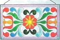 Jim Shore 4012508 Small Panel Daisies Suncatcher