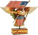 Jim Shore 4013282 Patriotic Eagle United We Stand Figurine