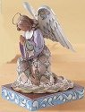 Jim Shore 4013492 He's Always Listening Angel Kneeling Figurine