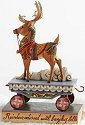 Jim Shore 4014292 Winter Wishes Speeding Your Way Figurine