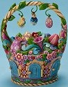 Jim Shore 4015583 Be Open To Miracles Easter Basket W Ornaments