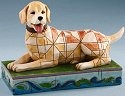 Jim Shore 4016896 Lucky Yellow Labrador Figurine