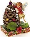 Jim Shore 4019321 Fairy & Pine Cone Tree Figurine