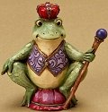 Jim Shore 4021440 Mini Frog Crown Figurine