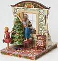 Jim Shore 4024787 2 Sided Santa Window Scene