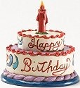 Jim Shore 4025846 Mini Birthday Cake Figurine