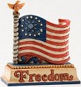 Jim Shore 4025849 Mini Flag Figurine