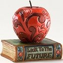 Jim Shore 4025850 Mini Apple on Book Figurine