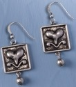 Jim Shore 4032506 Heart in Square Earrings